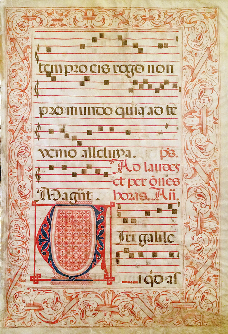 Italian Antiphonal Leaf by Manuscripts & Miniatures - Davidson Galleries
