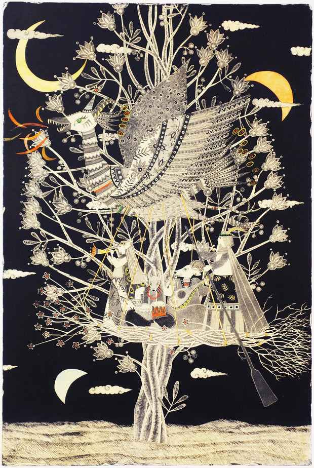 Three of the Moon, Tree of Wind and Small Boat by Mio Asahi - Davidson Galleries