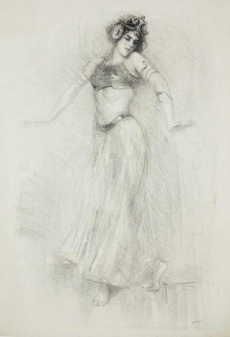 Danseuse, Sahri-Djellie, Dancer at the Follies Bergere and the Casino de Paris by Albert de Belleroche - Davidson Galleries