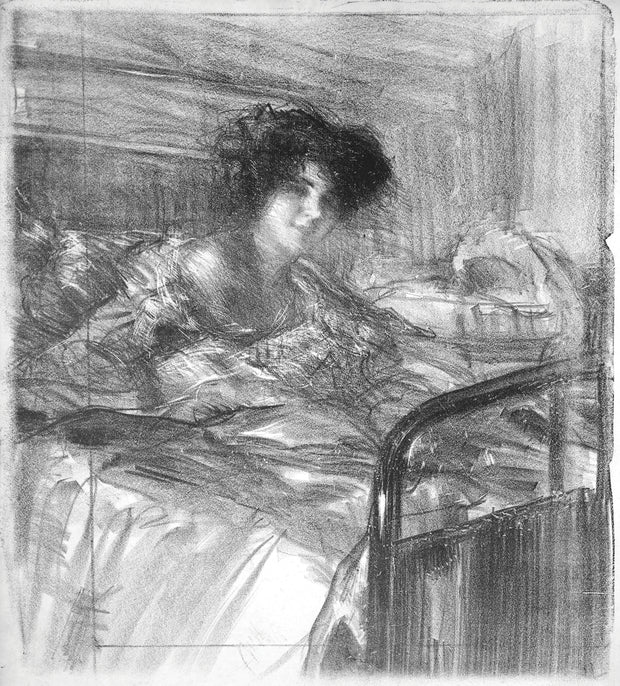 Convalescence, Julie de Belleroche by Albert de Belleroche - Davidson Galleries