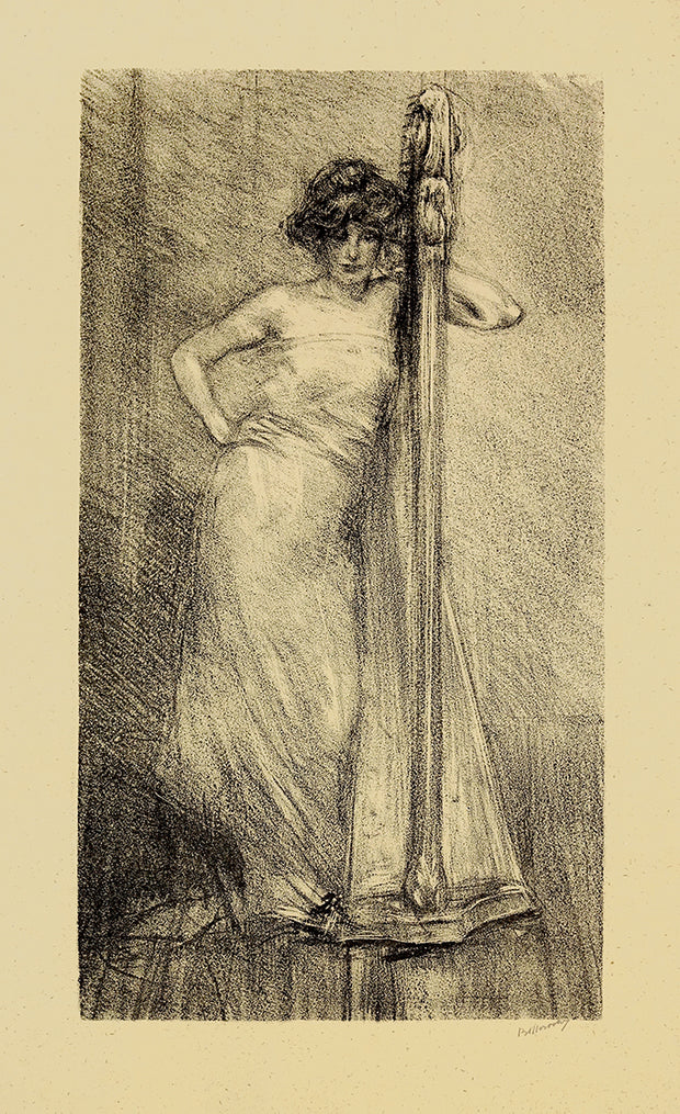 Femme à la Harpe by Albert de Belleroche - Davidson Galleries