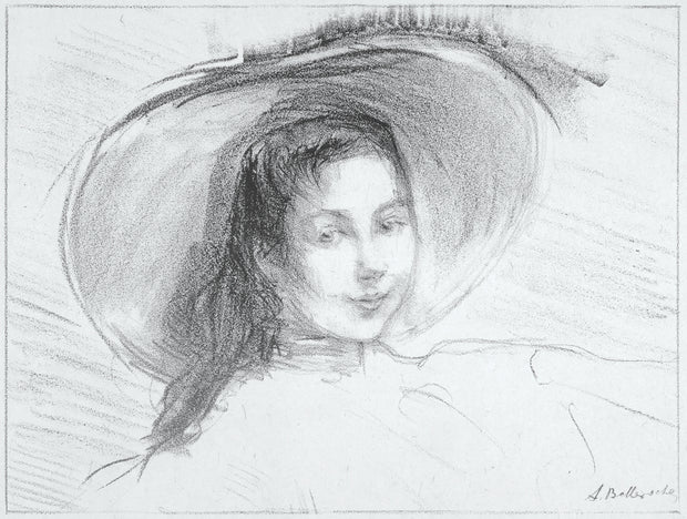 Fillette au grand chapeau, Petite Florence (Little girl with a large hat, Petite Florence) by Albert de Belleroche - Davidson Galleries