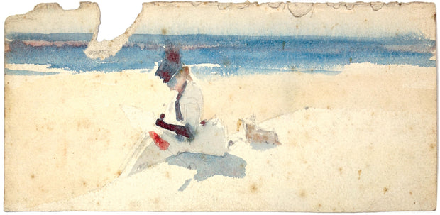 French Beach (inscribed on the verso 'French Beach' by Albert de Belleroche) by Albert de Belleroche - Davidson Galleries
