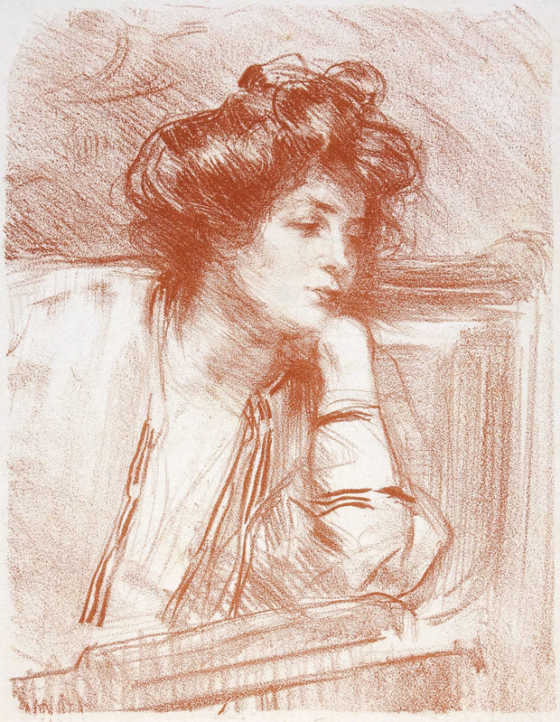 Songerie (Dreamer), Lili by Albert de Belleroche - Davidson Galleries