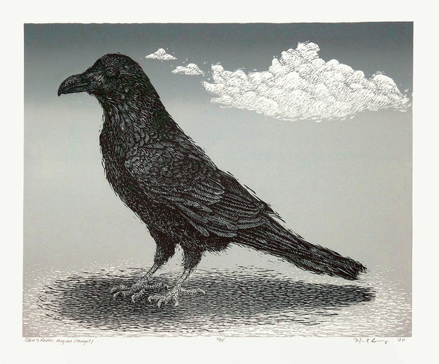 Odin's Raven, Huginn (Thought) by Marit Berg - Davidson Galleries