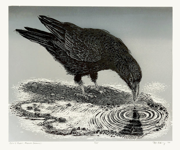 Odin's Raven, Muninn (Memory) by Marit Berg - Davidson Galleries