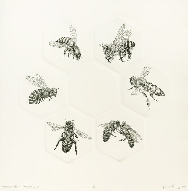 Honey Bee Group #4 by Marit Berg - Davidson Galleries