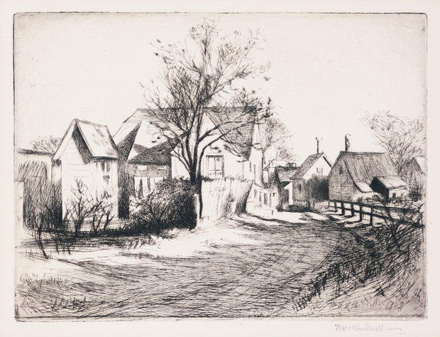Village Road by William Bicknell - Davidson Galleries