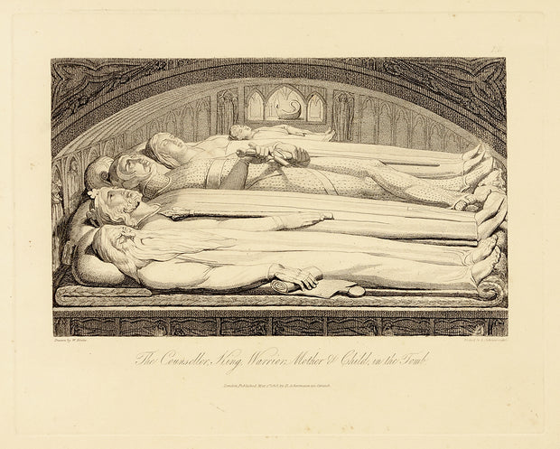The Councellor, King, Warrior, Mother, and Child, in the Tomb by William Blake - Davidson Galleries