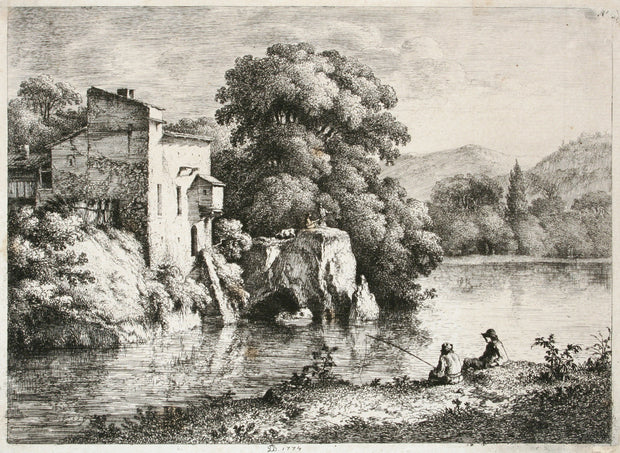 River Landscape by Jean Jacques Boissieu - Davidson Galleries
