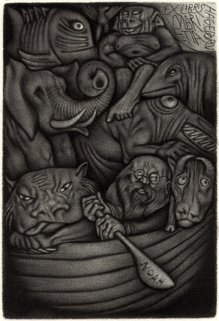 Noah's Arc (Ex Libris for Marietta Hagedorn) by Yuri Borovitsky - Davidson Galleries