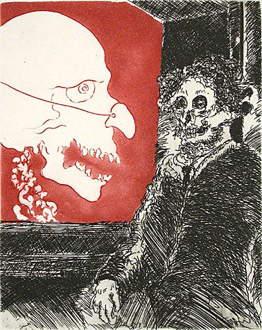 Uncle Skulky Appears to James Ensor and Mocks Him With a Fake Nose by Frank Boyden - Davidson Galleries