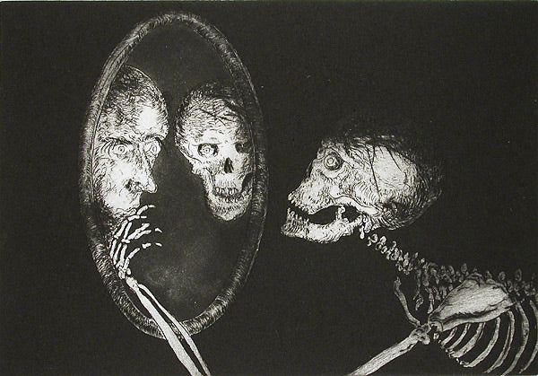 The Irreverences, Provocations, & Connivances of Uncle Skulky (Suite of 21 intaglio prints) by Frank Boyden - Davidson Galleries