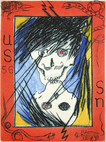 "As Uncle Skulky Slips His Image Into the 56th Playing Card, I Remember My FatherSaying, ""Always Kill the Closest Snake First"" by Frank Boyden - Davidson Galleries"
