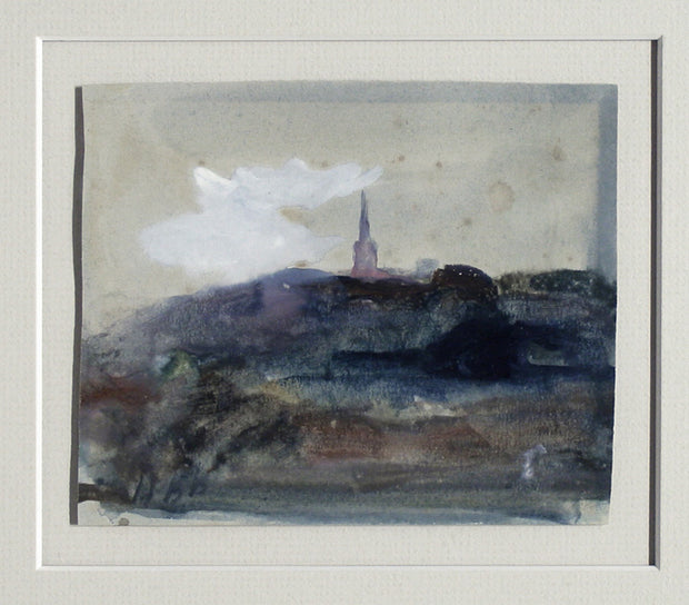 Landscape with Church Spire (Salisbury) by Hercules Brabazon Brabazon - Davidson Galleries