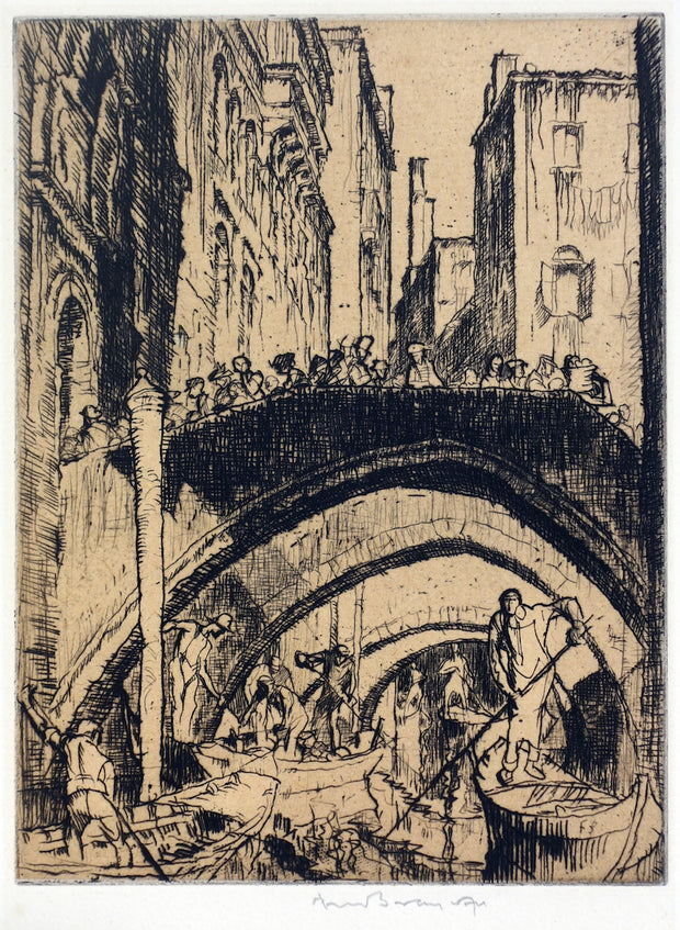 Venetian Canal by Sir Frank Brangwyn - Davidson Galleries