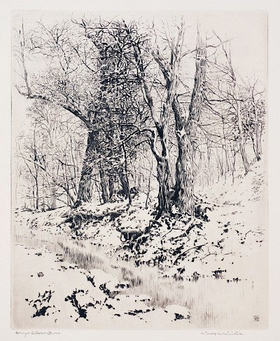 Woods in Winter by George Elbert Burr - Davidson Galleries