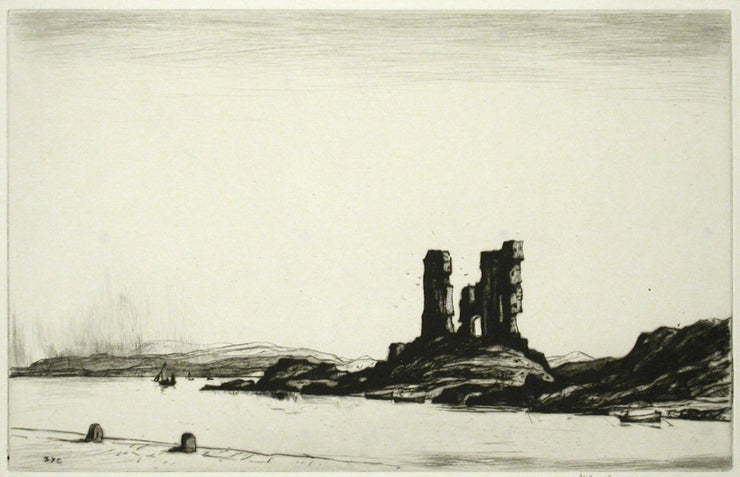 Castle Moyle by Sir David Young Cameron - Davidson Galleries