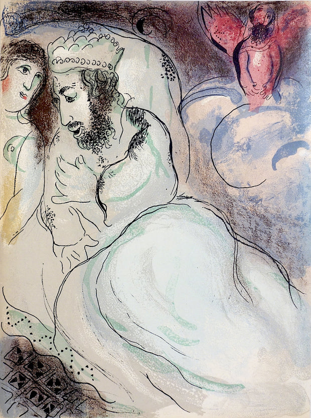Sara et Abimélech (Sarah and Abraham) by Marc Chagall - Davidson Galleries