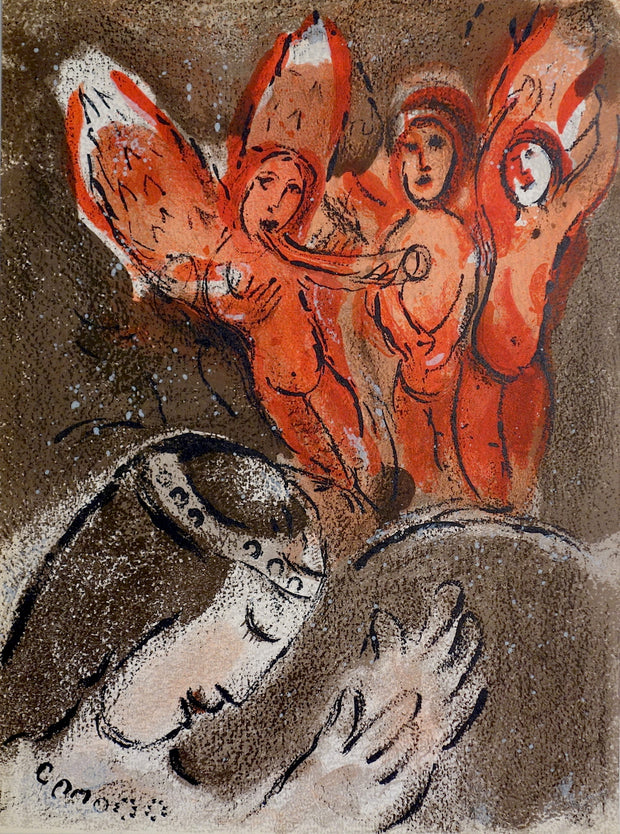 Sara et Les Anges (Sarah and the Angels) by Marc Chagall - Davidson Galleries