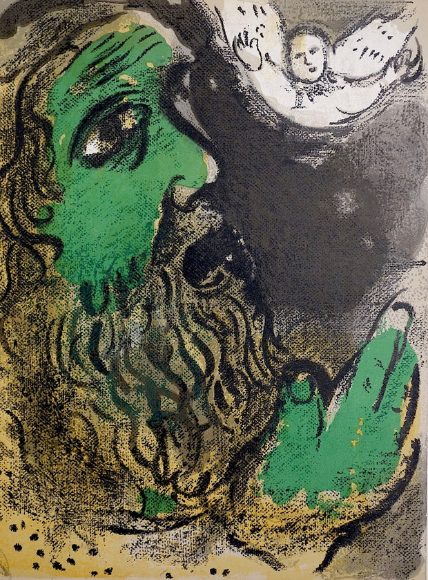 Job En Prières (Job at Prayer) by Marc Chagall - Davidson Galleries