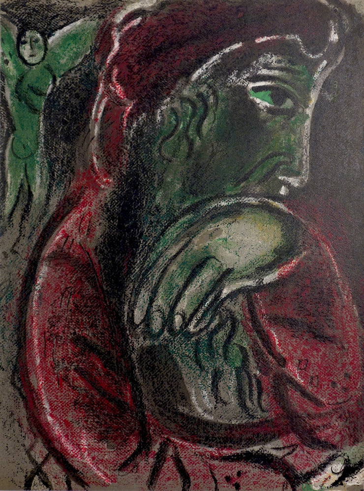 Job Désespéré (Job Disconsolate) by Marc Chagall - Davidson Galleries