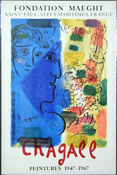 Blue Profile by Marc Chagall - Davidson Galleries