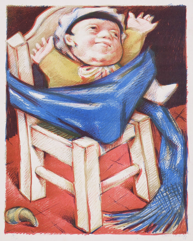 Baby on Chair by Jean Charlot - Davidson Galleries