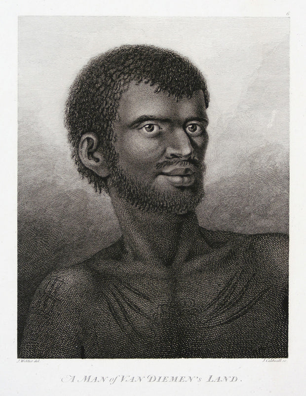 A Man of Van Diemen's Land (Tasmania) by The Voyages of Captain Cook - Davidson Galleries