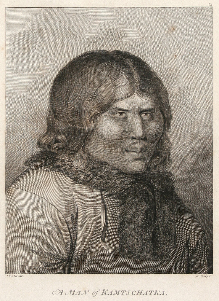 A Man of Kamtschatka by The Voyages of Captain Cook - Davidson Galleries
