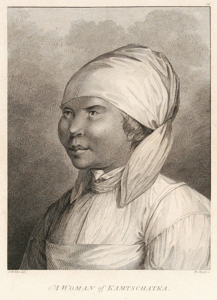 A Woman of Kamtschatka by The Voyages of Captain Cook - Davidson Galleries