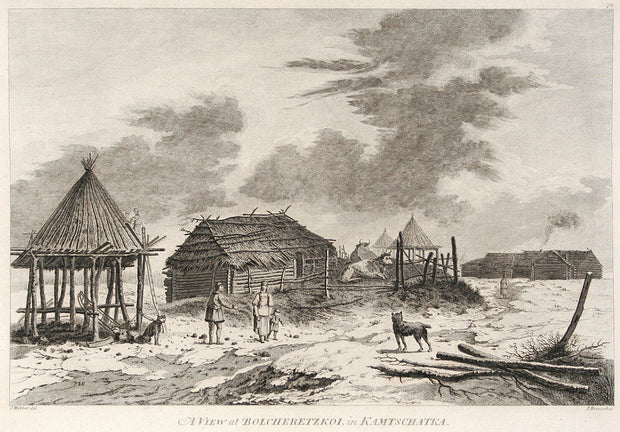 A View at Bolsheretzkoi, in Kamtschatka by The Voyages of Captain Cook - Davidson Galleries