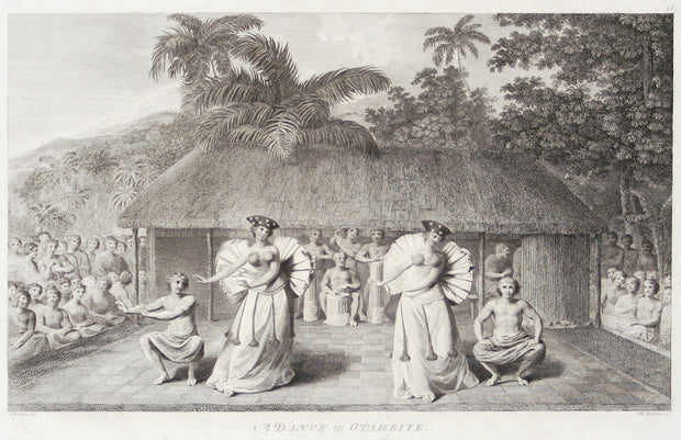 A Dance in Otaheite (Tahiti) by The Voyages of Captain Cook - Davidson Galleries
