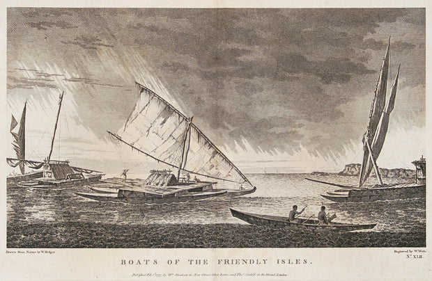 Boats of the Friendley Isles by The Voyages of Captain Cook - Davidson Galleries