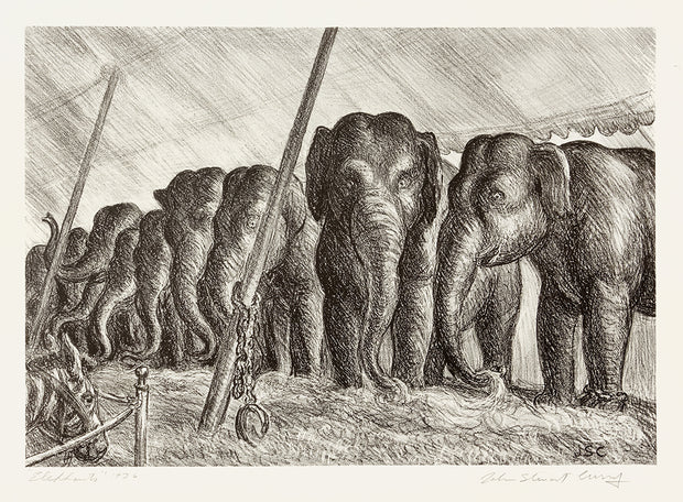 Circus Elephants by John Steuart Curry - Davidson Galleries
