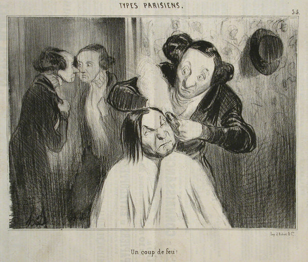 Un Coup De Feu by Honoré Daumier - Davidson Galleries