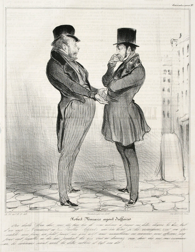 Robert Macaire Agent D'Affaires by Honoré Daumier - Davidson Galleries