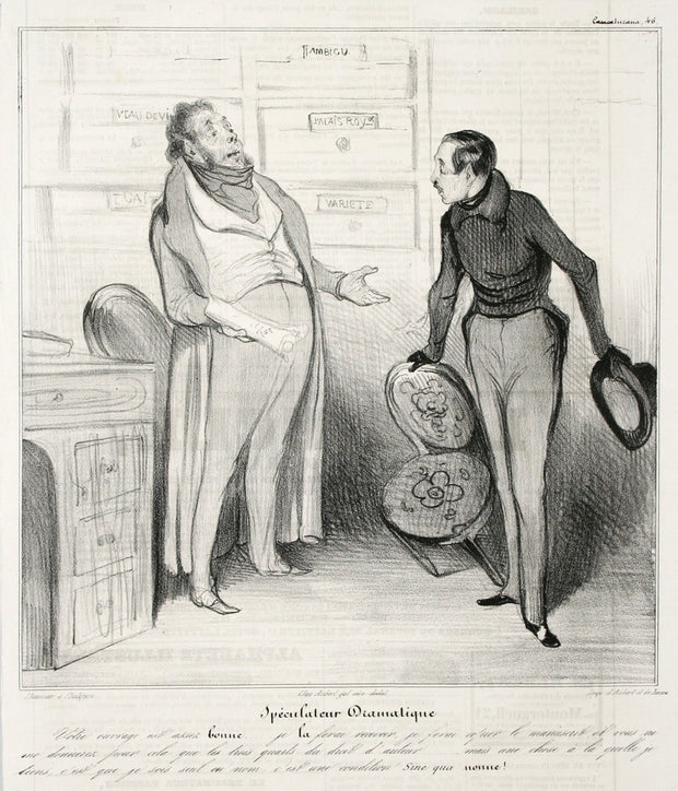 Spéculateur Dramatique by Honoré Daumier - Davidson Galleries