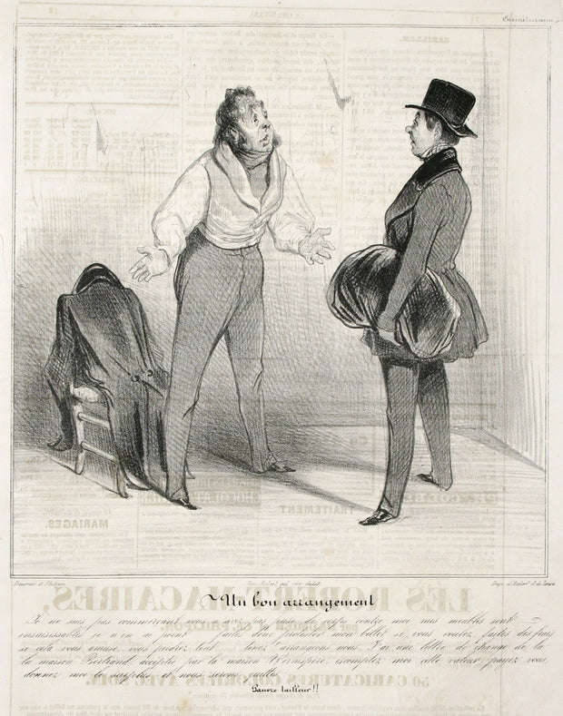 Un Bon Arrangement by Honoré Daumier - Davidson Galleries