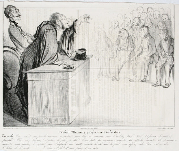 Robert Macaire Professeur D'Industrie by Honoré Daumier - Davidson Galleries