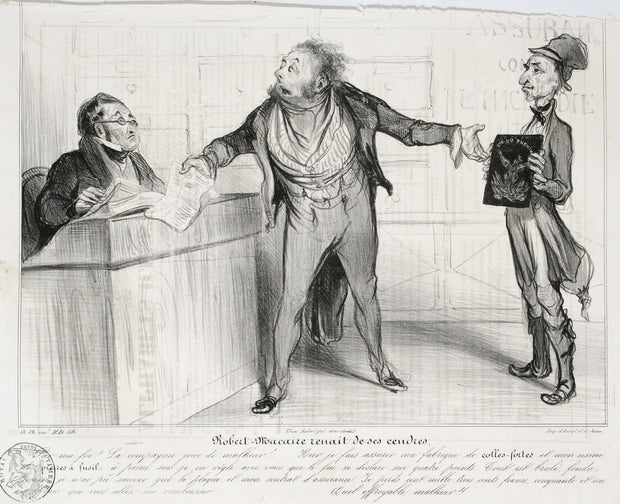 Robert Macaire Renait De Ses Cendres by Honoré Daumier - Davidson Galleries