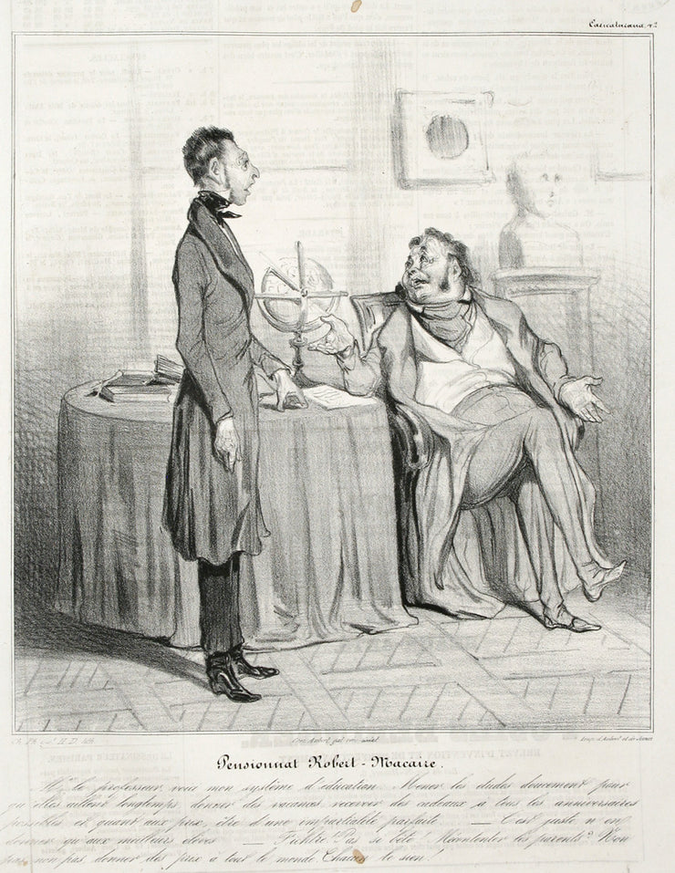 Pensionnat Robert Macaire by Honoré Daumier - Davidson Galleries