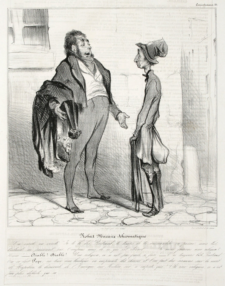 Robert Macaire Schismatique by Honoré Daumier - Davidson Galleries