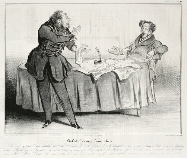 Robert Macaire Journaliste by Honoré Daumier - Davidson Galleries