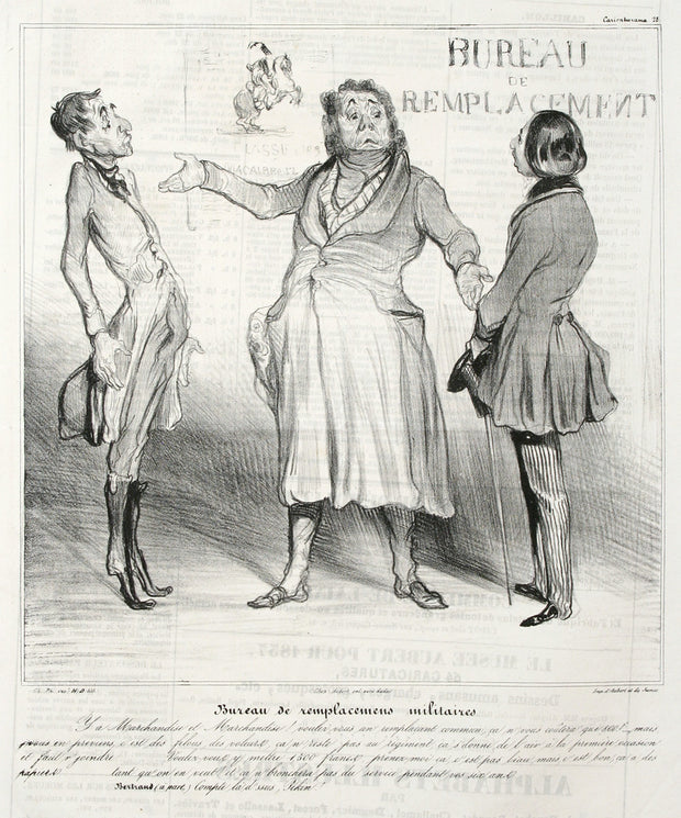 Bureau De Replacemens Militaires by Honoré Daumier - Davidson Galleries