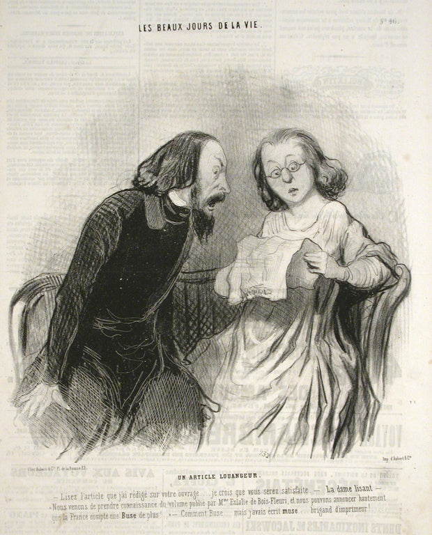 Un Article Louangeur by Honoré Daumier - Davidson Galleries