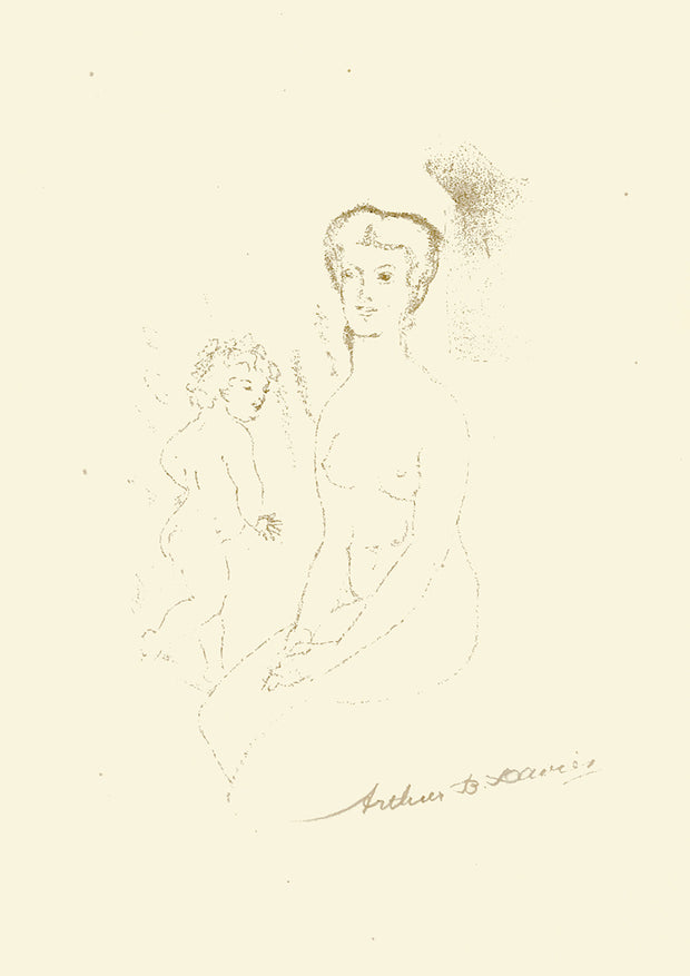 Seated Nude and Child by Arthur B. Davies - Davidson Galleries