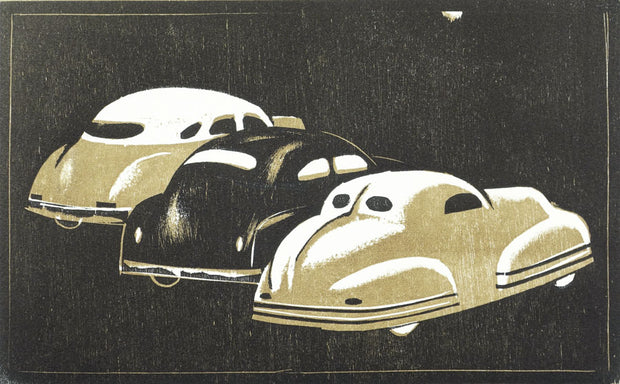 3 Cars at Night by Lockwood Dennis - Davidson Galleries
