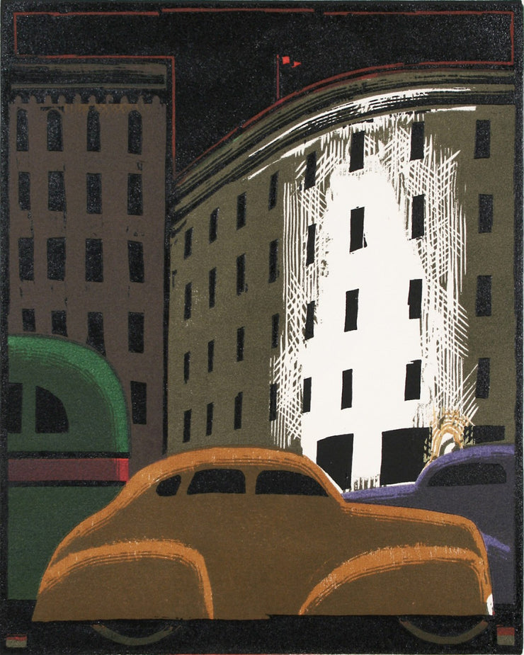 Cars Downtown by Lockwood Dennis - Davidson Galleries
