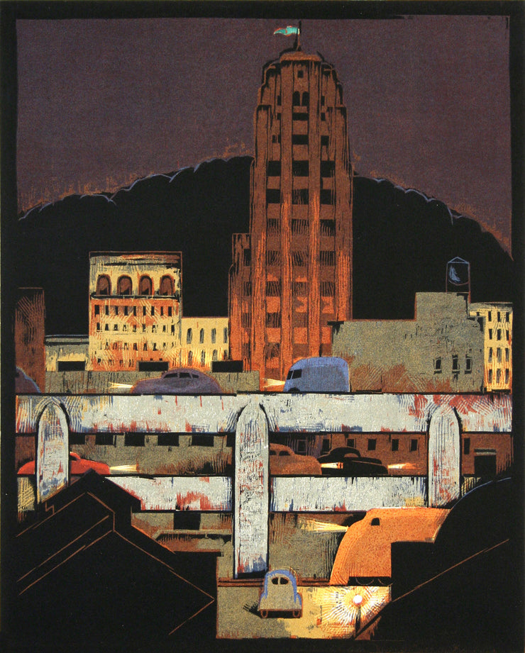 City at Night by Lockwood Dennis - Davidson Galleries
